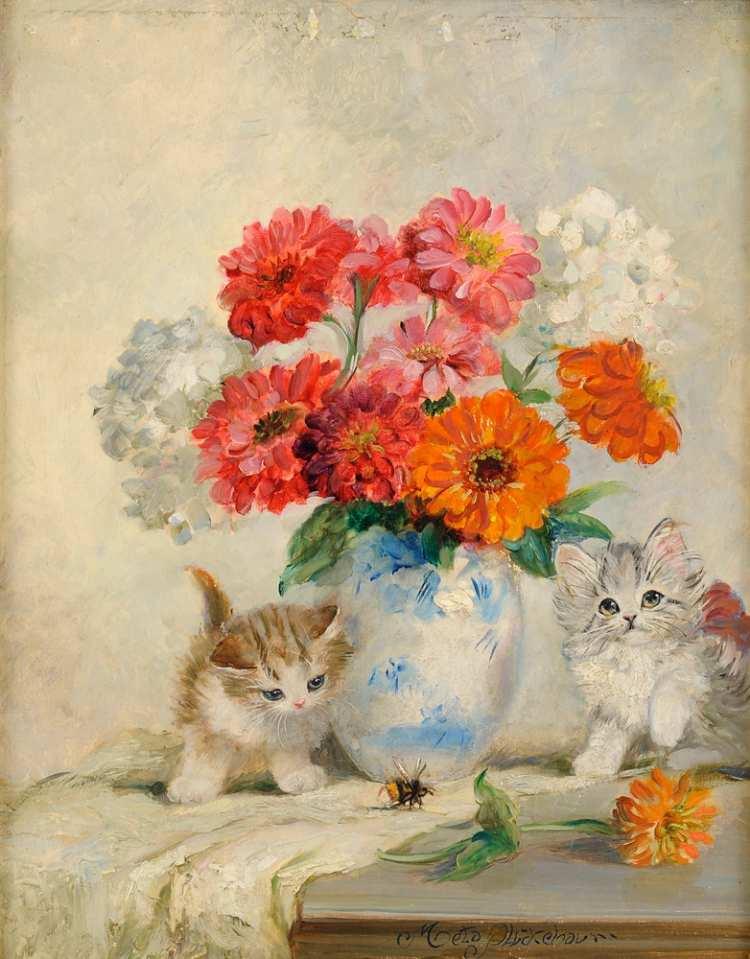 Meta Plückebaum | Blumen und Kittens