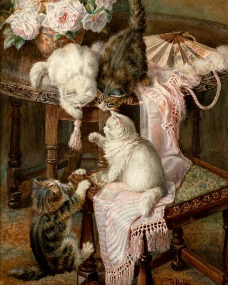 Minnie Rosa Bebb | Kittens Playing