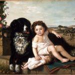 Ernest Étienne Narjot | Portrait of a Girl with Dog, 1879