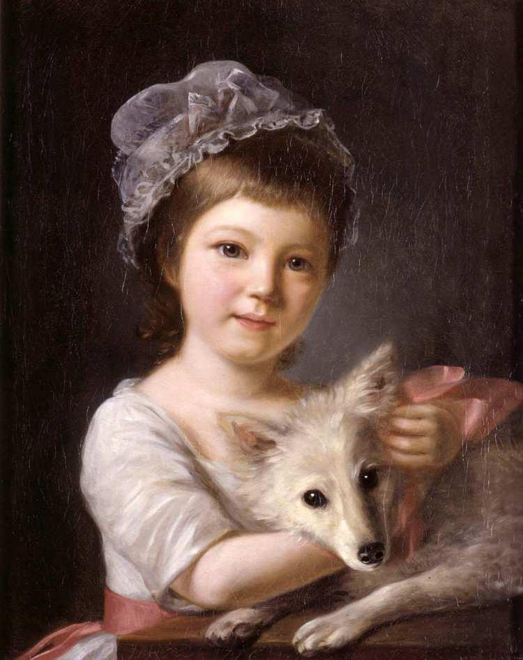 Nathaniel Hone der Ältere, Mädchen mit Hund