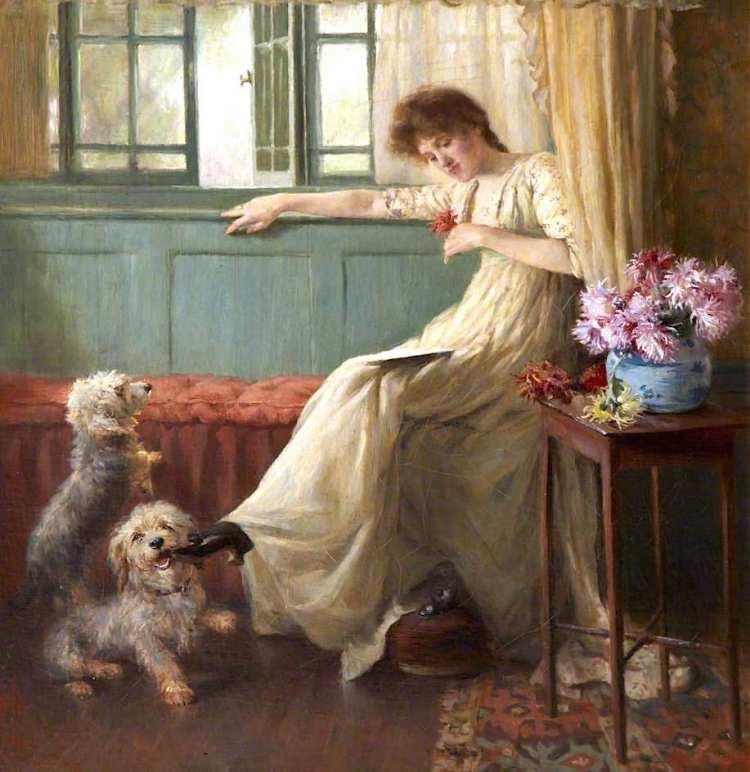 Nathaniel Hughes John Baird | A Dainty Morsel, 1893 | Torre Abbey Museum, Torquay
