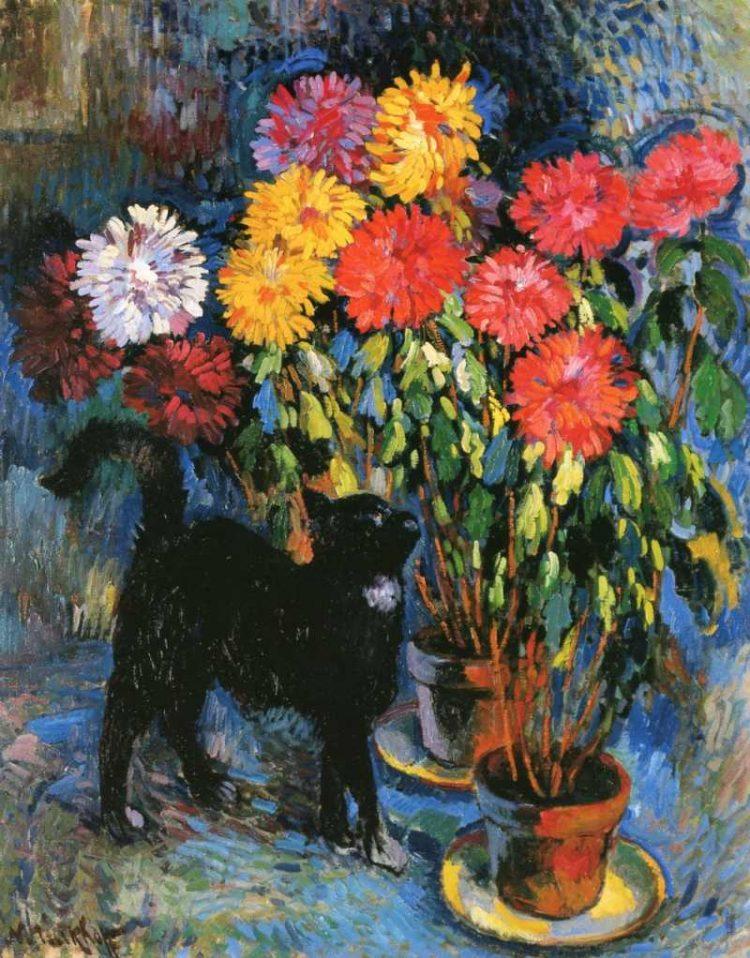 Nicolas Tarkhoff | Dahlias and Black Cat, 1907 | Musée du Petit Palais, Genf