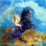 Odilon Redon | Brunhild (auch bekannt als Walküre) | Privatbesitz