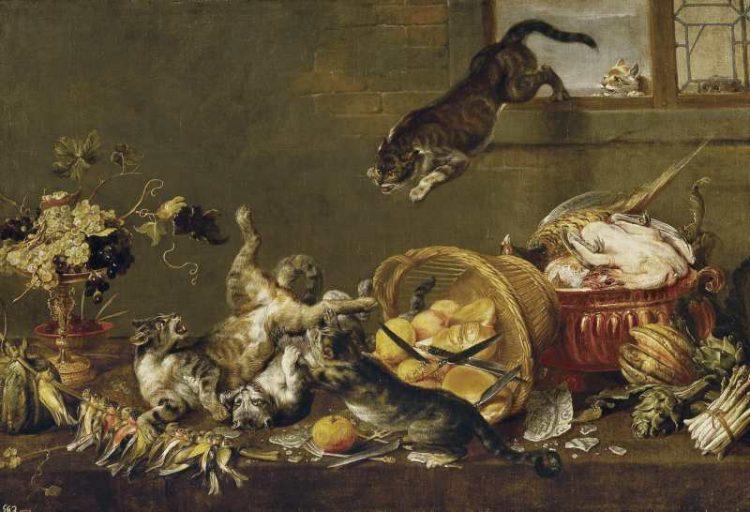 Paul de Vos | Cats Fighting in a Larder, 1630-1640 | Museo del Prado Madrid