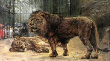 Paul Friedrich Meyerheim | Watching the Lions