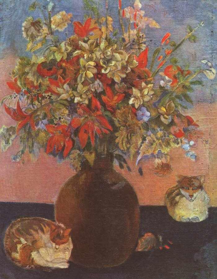 Paul Gauguin | Blumen und Katzen, 1899 | Ny Carlsberg Glyptotek, Kopenhagen