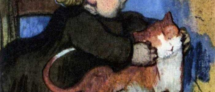 Paul Gauguin | Mimi and Her Cat, 1890