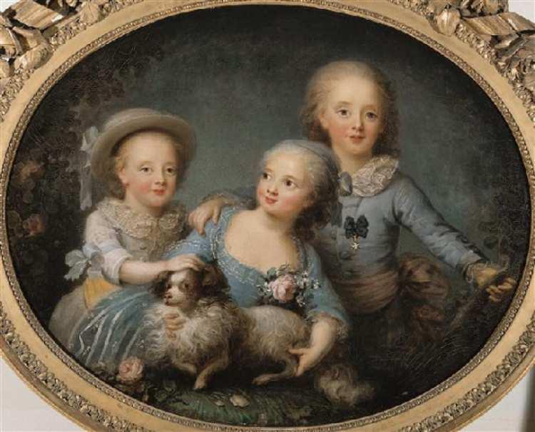 Anne-Rosalie Filleul | Artois children, 1781 | Château de Versailles