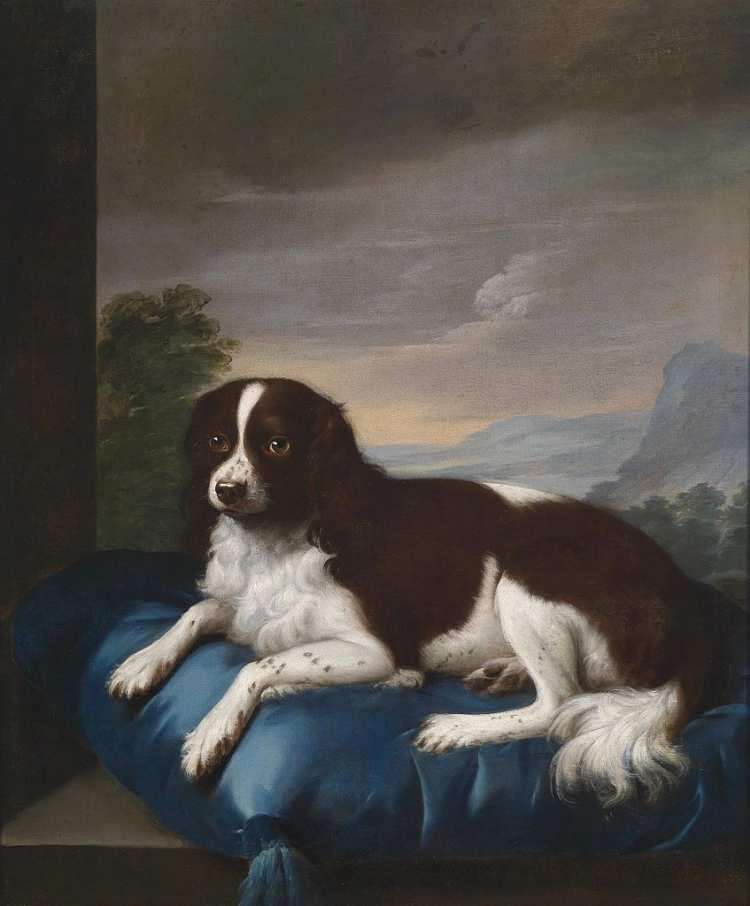 Savrey Gilpin | English Springer Spaniel on a cushion, 1807