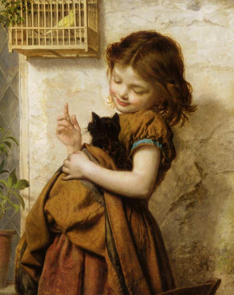 Sophie Gengembre Anderson | Her Favorite Pets | Privatbesitz