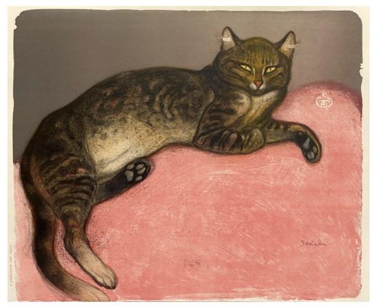 Théophile Alexandre Steinlen | Winter, Cat on a Cushion, 1909