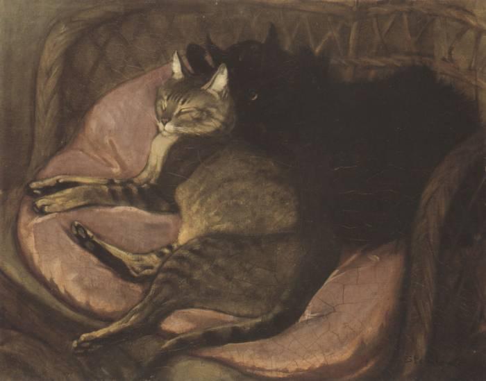 Theophile-Alexandre Steinlen | Katzen auf dem Sofa | Petit Palais Genf