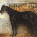 Théodore Géricault   Black Horse in the Stable   Privatsammlung