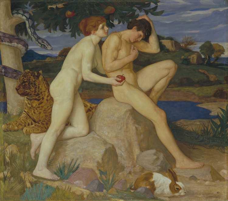 William Strang, The Temptation, 1899; TATE Britain