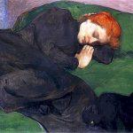 W?adys?aw ?lewi?ski | Sleeping Woman with a cat, 1896